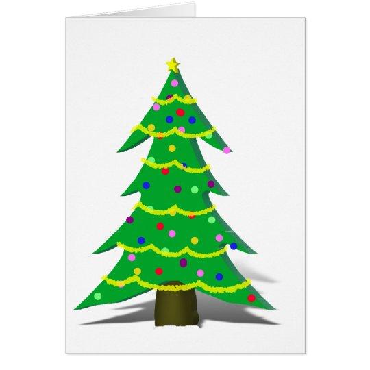 Cartoon-Weihnachtsbaum Karte