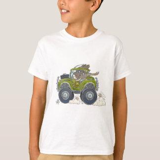 Cartoonillustration eines Elefanten, der einen T-Shirt
