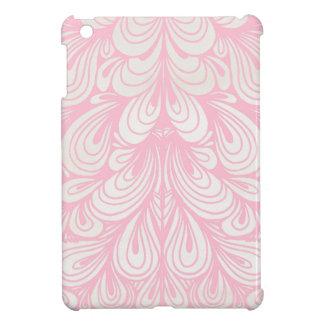 Cas abstrait floral rose coque iPad mini