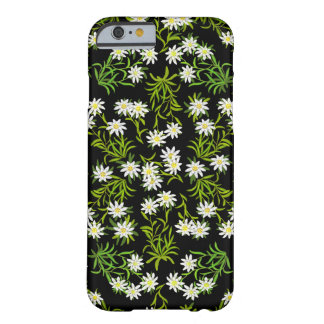 Cas alpin de l'iPhone 6 de fleurs d'edelweiss suis Coque Barely There iPhone 6