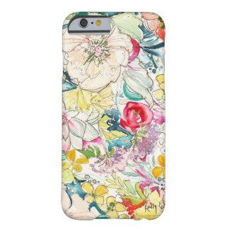 Cas au néon de l'iPhone 6 de fleur d'aquarelle