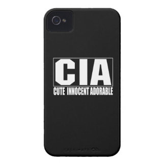 Cas audacieux adorable innocent mignon de CIA Blac Coque iPhone 4 Case-Mate