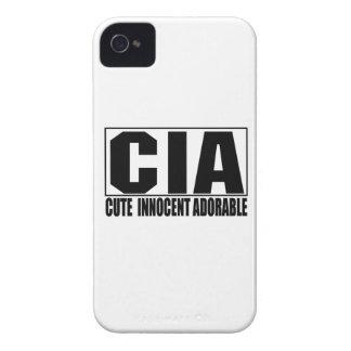 Cas audacieux adorable innocent mignon de CIA Blac Coques iPhone 4