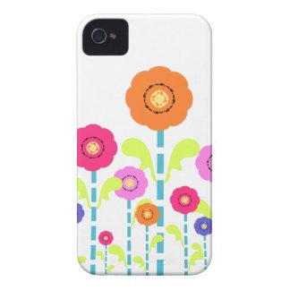 Cas audacieux blanc de Blackberry de fleurs Coques iPhone 4 Case-Mate