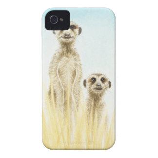 Cas audacieux de Coque-Compagnon de Meerkat Blackb Coque iPhone 4 Case-Mate