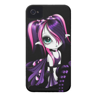 Cas audacieux Pourpre-Rose de Lyssa Fae Blackberry Coque iPhone 4