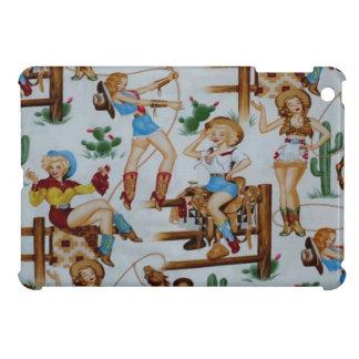 Cas brillant de finition d'iPad de cow-girls de ro Coque Pour iPad Mini