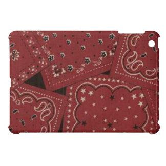 Cas brillant de finition d'iPad rouge de Bandana d Coques iPad Mini