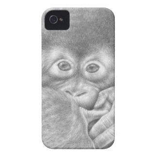 Cas de Coque-Compagnon d'orang-outan de bébé Étuis iPhone 4