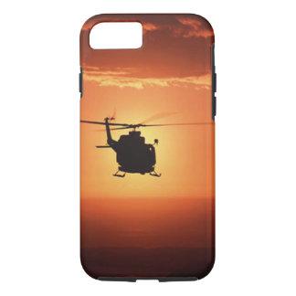 Cas de l'iPhone 7 de silhouette d'hélicoptère Coque iPhone 7