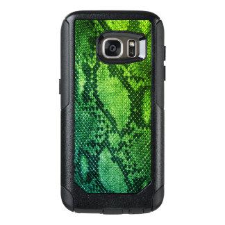Cas de Samsung de style de peau de serpent vert Coque OtterBox Samsung Galaxy S7