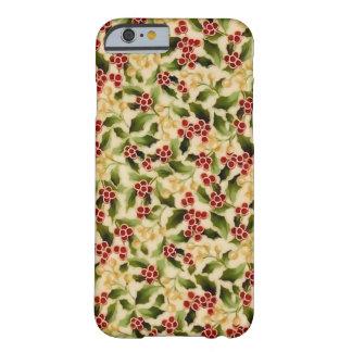 Cas de téléphone de houx de Noël Coque Barely There iPhone 6