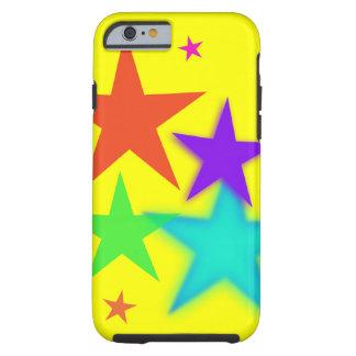 Cas dur d'étoiles de caisse colorée de l'iPhone 6 Coque iPhone 6 Tough