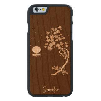 Cas en bois de l'iPhone 6 de fleurs de cerisier Coque Carved® iPhone 6 En Cerisier