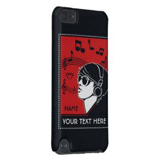 Cas faits sur commande de musique d'art déco des t coque iPod touch 5G