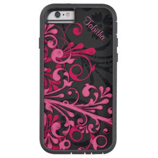 Cas floral élégant T de l'iPhone 6 de noir audacie