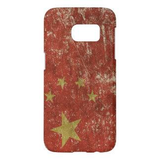 Cas patriotique avec le drapeau de la Chine Coque Samsung Galaxy S7