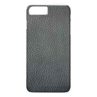Cas plus de l'iPhone 7 des hommes en cuir noirs de Coque iPhone 8 Plus/7 Plus