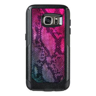 Cas roses de Samsung de style de peau de serpent Coque OtterBox Samsung Galaxy S7