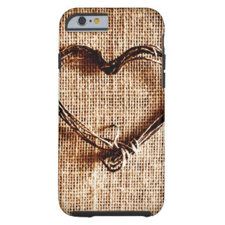 Cas rustique de l'iPhone 6 d'impression de toile Coque Tough iPhone 6