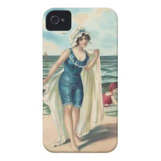 Cas vintage de Coque-Compagnon de bébés de plage Coques iPhone 4 Case-Mate