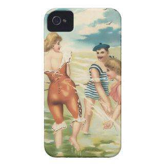 Cas vintage de Coque-Compagnon de bébés de plage Coque iPhone 4 Case-Mate