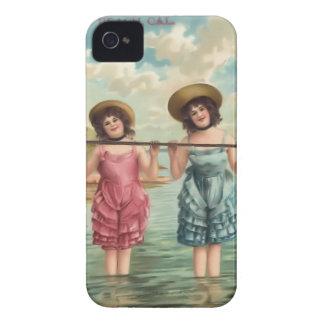 Cas vintage de Coque-Compagnon de bébés de plage Coques iPhone 4