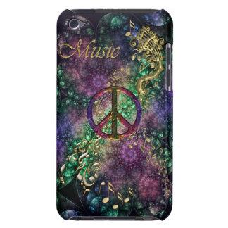 Cas vintage de musique de signe de paix pour iPod Coque Barely There iPod
