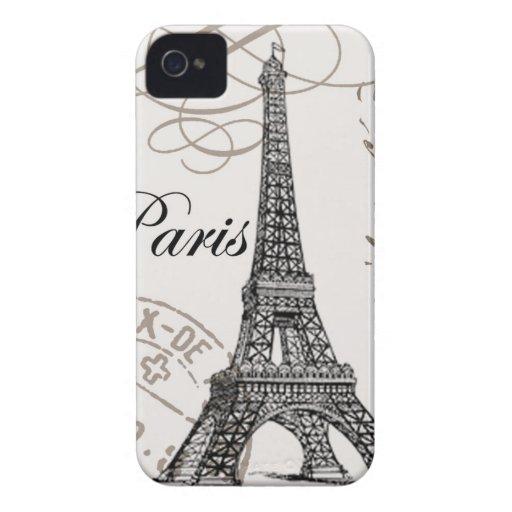 Cas vintage de Paris… Blackberry Étui iPhone 4