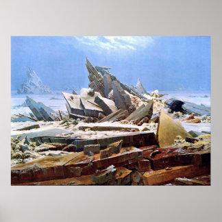 CASPAR DAVID FRIEDRICH - das Meer von Eis 1824 Poster