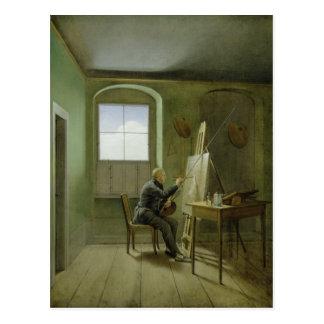 Caspar David Friedrich in seinem Studio, 1811 Postkarte