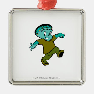 Casper Frankenstein Quadratisches Silberfarbenes Ornament
