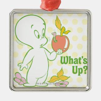 Casper, was oben ist quadratisches silberfarbenes ornament
