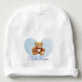 Casquette bleu personnalisé de Babys d'ours de Bonnet Pour Bébé