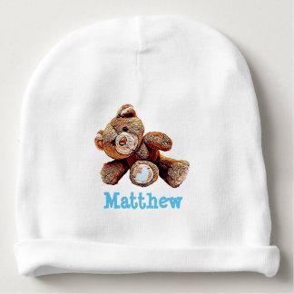Casquette bleu personnalisé de bébé d'ours de bonnet pour bébé