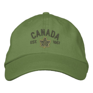 Casquette Brodée Broderie canadienne Canada d'anniversaire