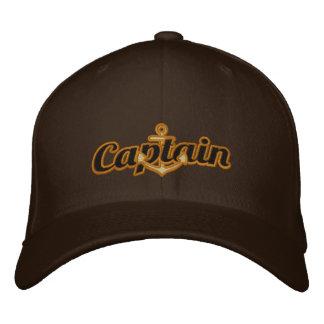 Casquette Brodée Capitaine élégant Nautical Anchor Large Embroidery