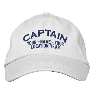 Casquette Brodée Capitaine personnalisé Hat