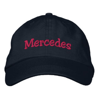 Casquette de baseball brodée par nom de Mercedes