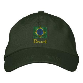 Casquette du Brésil - chapeau brésilien de drapeau Chapeaux Brodés