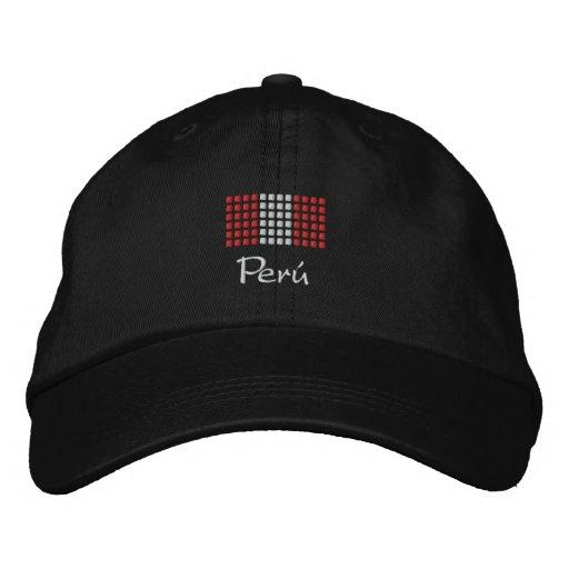 Casquette du Pérou - chapeau péruvien de drapeau Casquette De Baseball Brodée