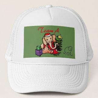 Casquette Équipe d'entreprise d'éléphant de fête de Noël