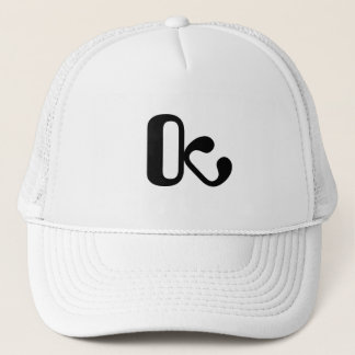 Casquette Le Trucker hat white/black OctopusChicky logo