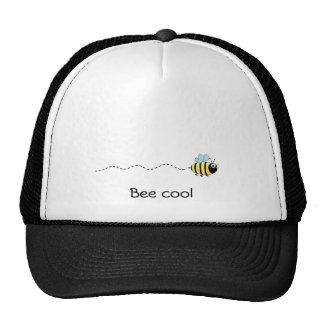 Casquette mignon frais de bande dessinée d'abeille