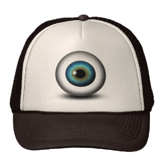 Casquette ou chapeau bleu de cool d'amusement