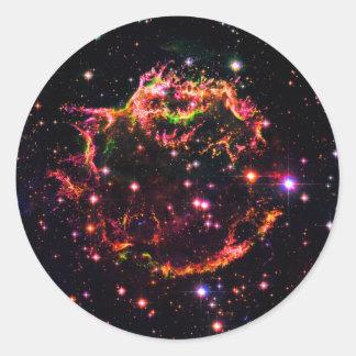Cassiopeia ein Nebelfleck-Supernova-Rest-Raum-Foto Runder Aufkleber