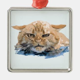 CAT 10 SILBERNES ORNAMENT