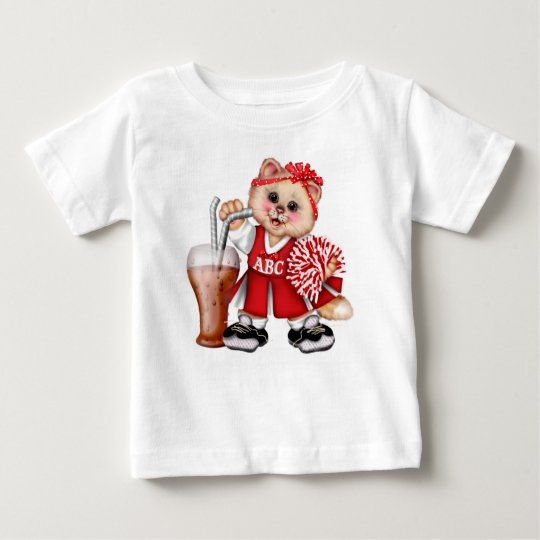 Cat-CHEERLEADER NIEDLICHER Baby T-shirt