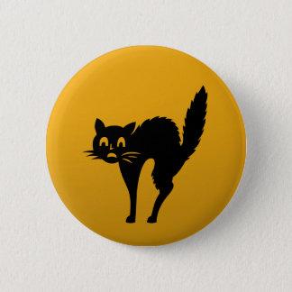 Cat-Katzen-Haustier-KinderLiebe-Cartoons Runder Button 5,7 Cm