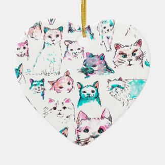 Cat Keramik Ornament